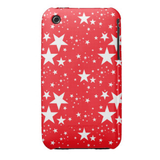 Red and White Stars pattern iPhone 3 Case