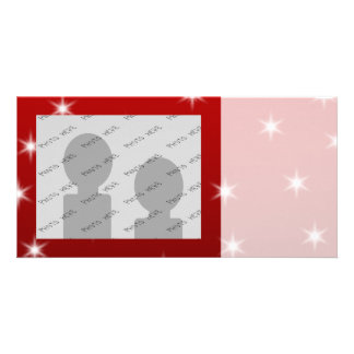 Red and White Stars Pattern. Picture Card