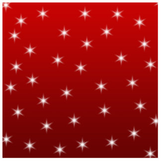Red and White Stars Pattern. Photo Cutout