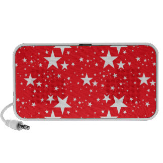 Red and White Stars pattern Speakers