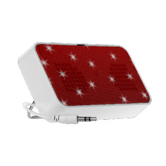 Red and White Stars Pattern Portable Speaker