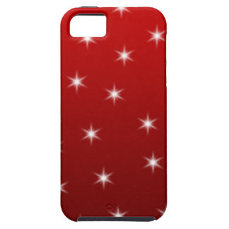 Red and White Stars Pattern. Tough iPhone 5 Case
