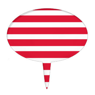 Red and White Stripe Customizable Products Cake Picks