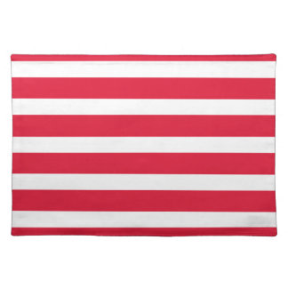 Red and White Stripe Customizable Products Placemats