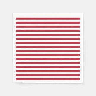Red and White Stripe Napkins Disposable Napkins