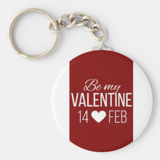 Red and white striped Valentine's day design incor Key Ring
