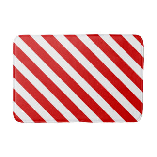 Red and White Stripes 2 Bath Mats