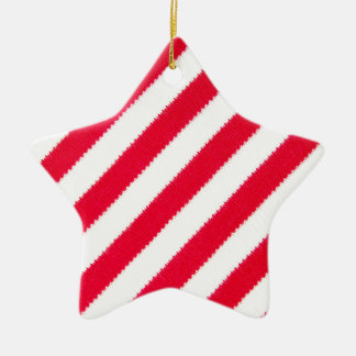 Red and white stripes christmas ornament