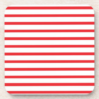 Red and White Stripes Coasters