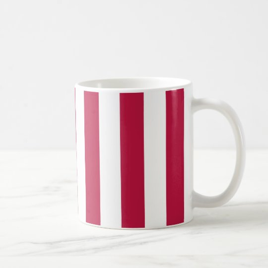 Red and White Stripes Coffee Mug