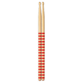 Red and White Stripes Drum Sticks