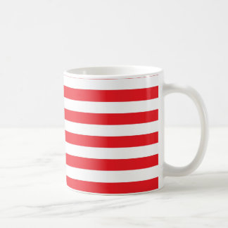 Red and White Stripes Mug