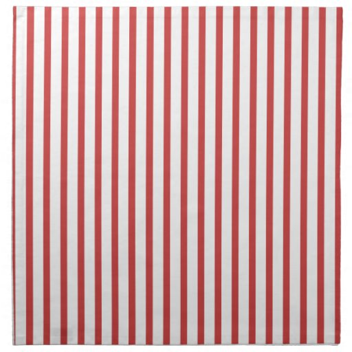 Red and White Stripes Cloth Napkins