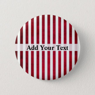 Red and White Stripes on Fabric Texture by STaylor 6 Cm Round Badge
