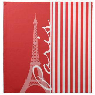 Red and White Stripes; Paris Napkins