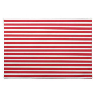 Red and White Stripes Placemat