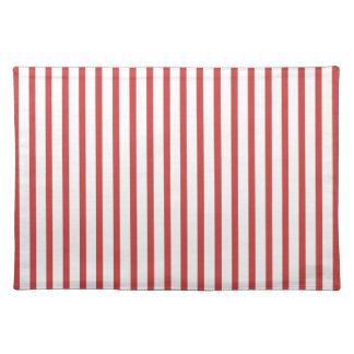 Red and White Stripes Placemats