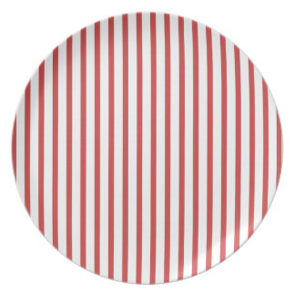 Red and White Stripes Party Plate