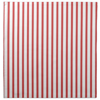 Red and White Stripes Printed Napkin