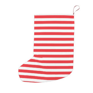 Red and White Stripes Small Christmas Stocking