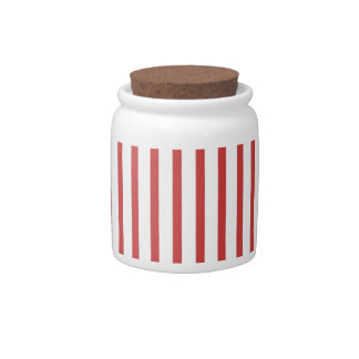 Red and White Stripes Candy Dishes