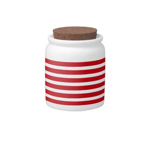 Red and White Stripes Candy Dish
