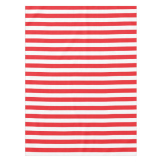 Red and White Stripes Tablecloth