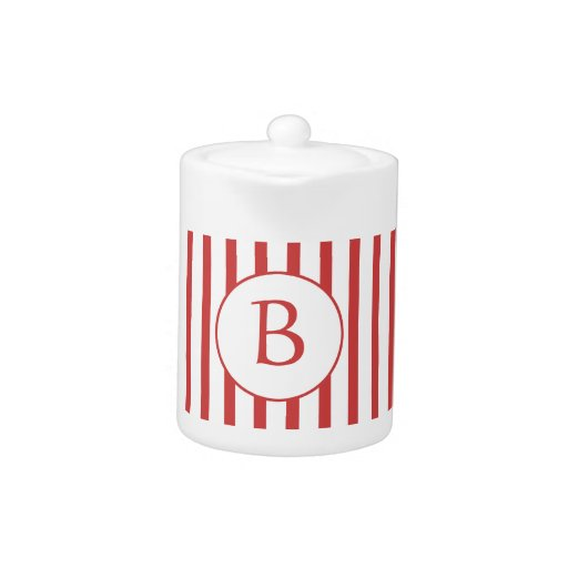 Red and White Stripes with Monogram