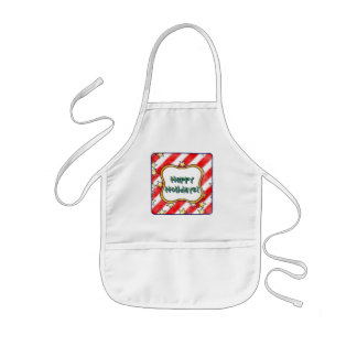 Red and White Stripes With Stars Kids Apron