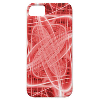 Red and white swirls iPhone 5 cover