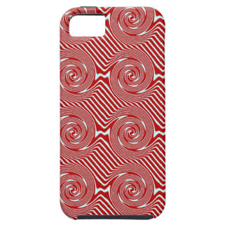 Red And White Swirls Tough iPhone 5 Case