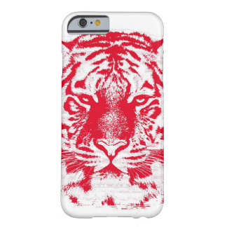 Red and White Tiger Face Close Up Barely There iPhone 6 Case