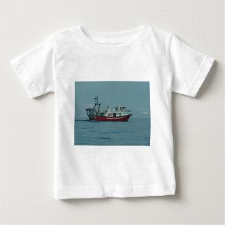 Red And White Trawler Baby T-Shirt
