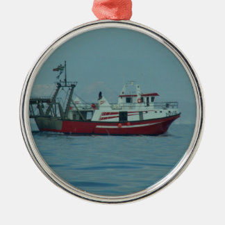 Red And White Trawler Christmas Ornament