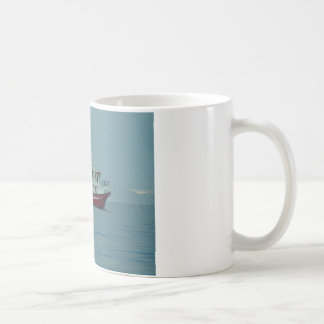 Red And White Trawler Coffee Mug