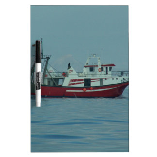 Red And White Trawler Dry Erase Boards