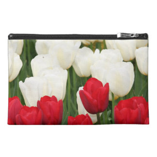Red and White Tulips Accessorires Bag Travel Accessories Bags
