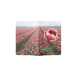 Red and White Tulips Field Passport Holder
