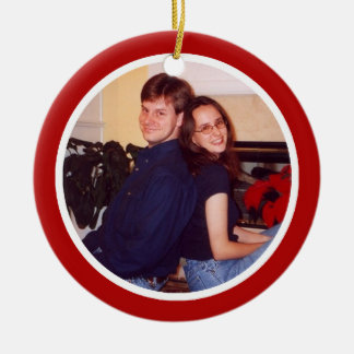 Red and White - Two Sided Christmas Ornament