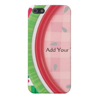 Red and White Watermelon Table Setting Cover For iPhone 5