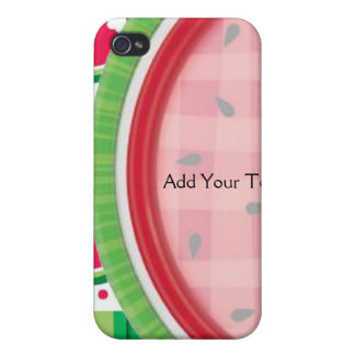 Red and White Watermelon Table Setting Covers For iPhone 4