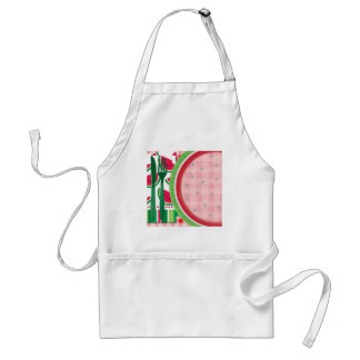 Red and White Watermelon Table Setting Standard Apron