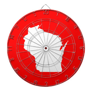 Red and White Wisconsin Dartboard
