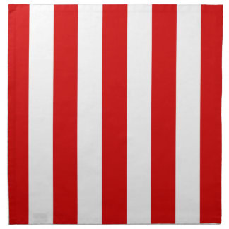Red and White XL Stripes Pattern Cloth Napkin