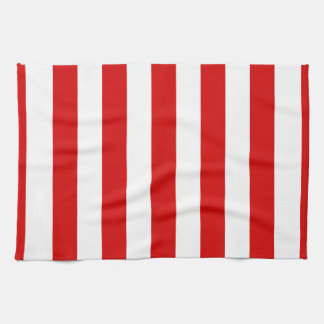 Red and White XL Stripes Pattern Kitchen Towel