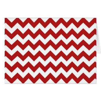 Red and White Zigzag Card