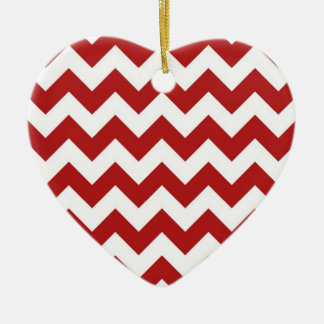 Red and White Zigzag Christmas Ornament