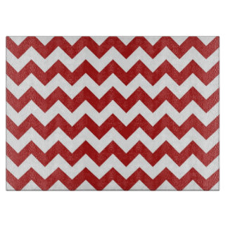Red and White Zigzag Cutting Board