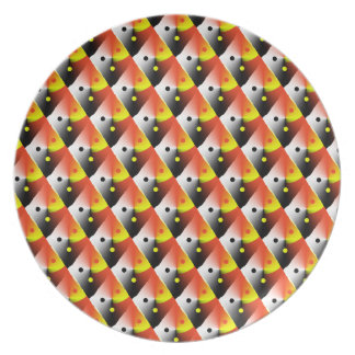 Red and Yellow 3D Pattern Plate
