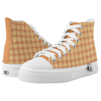 Red and Yellow Abstract Print HighTop Shoes